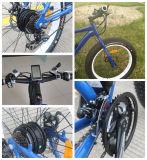 Bici eléctrica del Hun del motor 250W del neumático de la nieve de la playa gorda trasera de la montaña