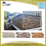 Linha de produção decorativa do painel de tapume da parede do teste padrão da pedra do vinil do PVC