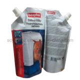 Жидкость в пластиковый пакет с носик для чистки/мойки продукта