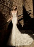 Luxe Robe de mariée sirène pierres de cristal Backless Perles nuptiale robes de mariée Wan47