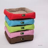 Oxford-Qualitätspreiswerte Samt-Quadrat-Hundekissen-Haustier-Betten