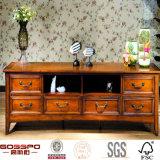 セービングスペース木製の家具の小さいテレビのキャビネットの立場の単位(GSP15-016)