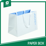 Sacolas de presente customizadas de papel branco feito sob encomenda
