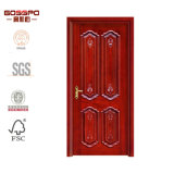 Interior tallado clásico de la puerta de madera sólida para el chalet del apartamento (GSP2-018)