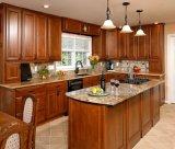 Gabinete de cozinha de madeira sólida de design novo Mobiliário de cozinha clássico # 240