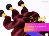 Pelo humano recto del color el 100% de Ombre del pelo brasileño de la Virgen
