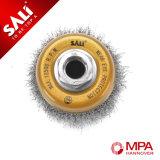Balai serti de cuvette de fil d'acier de bonne performance pour la rouille mobile
