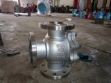 Отверстие тройника с плавающей запятой на три положения шаровой клапан (Q45F)