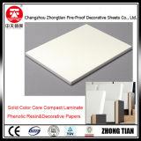 Tarjeta decorativa del laminado del compacto del papel de base del color
