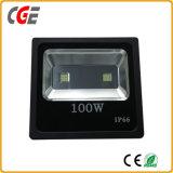 Luz de inundación del LED/reflector delgados, reflector del poder más elevado de la iluminación 100W IP65 del LED