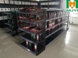 A prateleira do carrinho de indicador do supermercado submete cremalheiras convenientes do metal