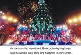 In het groot Nieuwe LEIDEN van de Strook van Kerstmis van de Bal van de Decoratie van de Aankomst Waterdichte Licht