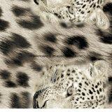 100% Polyester Leopard Print Pigment & Disperse Tecido impresso para conjuntos de cama