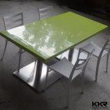 Diseño moderno Acrylic superficie sólida sobre la encimera de mármol mesa de comedor