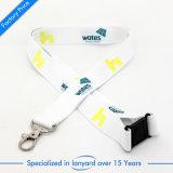 Commerce de gros de haute qualité de la sublimation lanière de cou ID porte-badge avec logo personnalisé