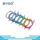 공장 도매 다채로운 보조 케이블 3.5mm 연결관