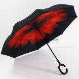 De douane drukte Omgekeerde/Omgekeerde Buitenkant af die ondersteboven Paraplu vouwt