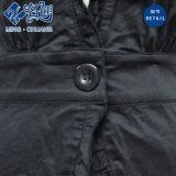 Abbigliamento sexy delle donne della camicetta di modo delle signore del V-Collo del tasto nero del merletto
