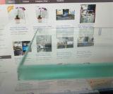 Verres de sûreté clairs de flotteur pour la porte de cuisine/douche/meubles (W-TP)