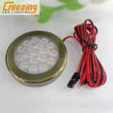 2W de luz LED puck de bronce