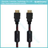 Cable de alta velocidad de HDMI con Ethernet y dos filtros de la ferrita