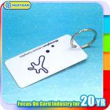 Custom печать ПВХ лояльности ключ бирка с металлическим кольцом