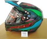 굵은 활자 방패 챙, Casco Moto 의 안전 헬멧을%s 가진 Motocross 도로 십자가 헬멧