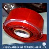 Stof van uitstekende kwaliteit van de Glasvezel van het Silicium Slitted de Rubber Met een laag bedekte