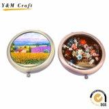 Cadeaux promotionnels à bas prix Pocket / Maquillage / Miroir cosmétique avec logo Epoxy Sticker / Printing