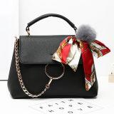 2017 New Spring Collection Senhora Shoulder Bags Bolsa mais vendida com lenço de seda de pele Sy8171