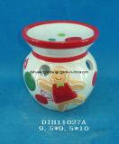 Encens en céramique Hand-Painted brûleur avec décoration Gingerbreadman