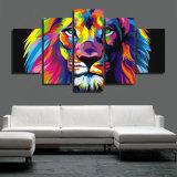 HDはキャンバス部屋の装飾プリントポスター映像のキャンバスMc042で多彩なライオンの絵画を印刷した
