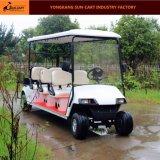 8 Seaterの電気ゴルフカート(セリウムの後部背部折りたたみシートが付いている公認のゴルフカート)