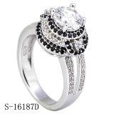 Plata esterlina y CZ anillos de diamantes anillos de compromiso de joyería