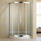 Salle de douche Quadrant en acier inoxydable avec verre clair tempéré de 8 mm (K-SS14)