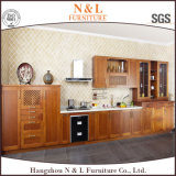 N及びLベストセラーの簡単な台所家具の贅沢な純木の食器棚