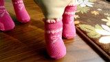 Cute Pink Bowtie Pet Supply Leg Chaussettes en tricot en coton