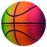 Sport rimbalzante durevoli di pallacanestro di colore del Rainbow da 6 pollici