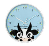 Diferentes tipos de animais por atacado Round Wall Clock for Children