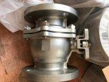 L'acier inoxydable de norme ANSI a bridé pleine soupape de Boreball avec le traitement