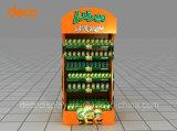 Estante de visualización acanalado de suelo del soporte de visualización para el supermercado