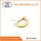 Boucle de petite taille en alliage de zinc de Dee en métal léger d'or pour des sacs