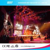 Écran d'intérieur noir mince superbe de la location DEL de l'aluminium P5 SMD2121 DEL pour l'exposition de concert