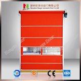 Porta automática do obturador do rolo do PVC da alta velocidade da abertura rápida da energia da economia