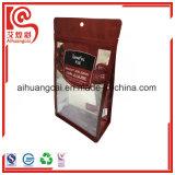 El empaquetado plástico del papel de aluminio se levanta el bolso del alimento por fechas
