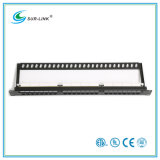 24 Port CAT6A UTP Patch Panel com barra traseira