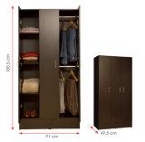 Kabinet van de Opslag van de Kleren van het Meubilair van de slaapkamer het Houten /Wardrobe (hx-DR023)