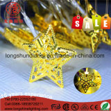 Clear PVC Cable Copper Star LED String Light pour décoration de Noël