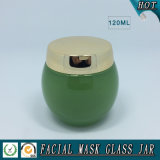 120mlは緑の顔マスクガラスの瓶を空ける