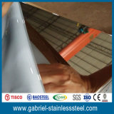 Изготовление листа нержавеющей стали зеркала золота ASTM 410